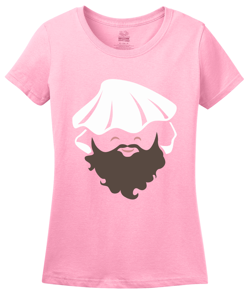 Ladies Pink Bearded Clam - Sex Joke Ocean Double Entendre Funny Pun Clam T-shirt