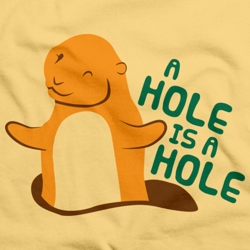 A HOLE IS A HOLE Light yellow art preview