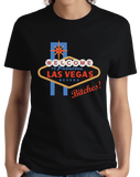 Ladies Black Welcome To Las Vegas, Bitches! - Sin City Vegas Party Batchelor T-shirt