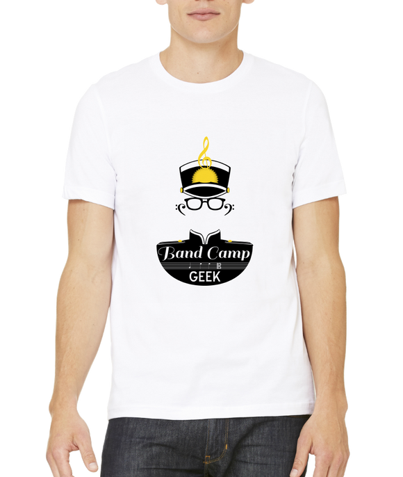 Standard White Band Camp Geek - Marching Band Pride Geek Nerd Camp Nostalgia T-shirt