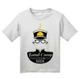 Youth White Band Camp Geek - Marching Band Pride Geek Nerd Camp Nostalgia T-shirt