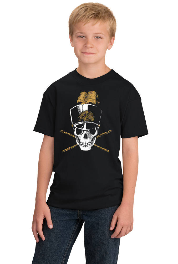 ... Youth Black Jolly Roger Marching Band - Pirate Band Geek Skull Nerd Hipster ...  sc 1 st  Ann Arbor Tees & Jolly Roger Marching Band - Pirate Band Geek Skull Nerd Hipster ...