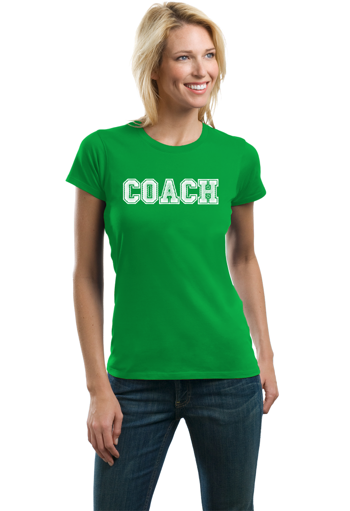 Ladies Green COACH RED T-SHIRT T-shirt