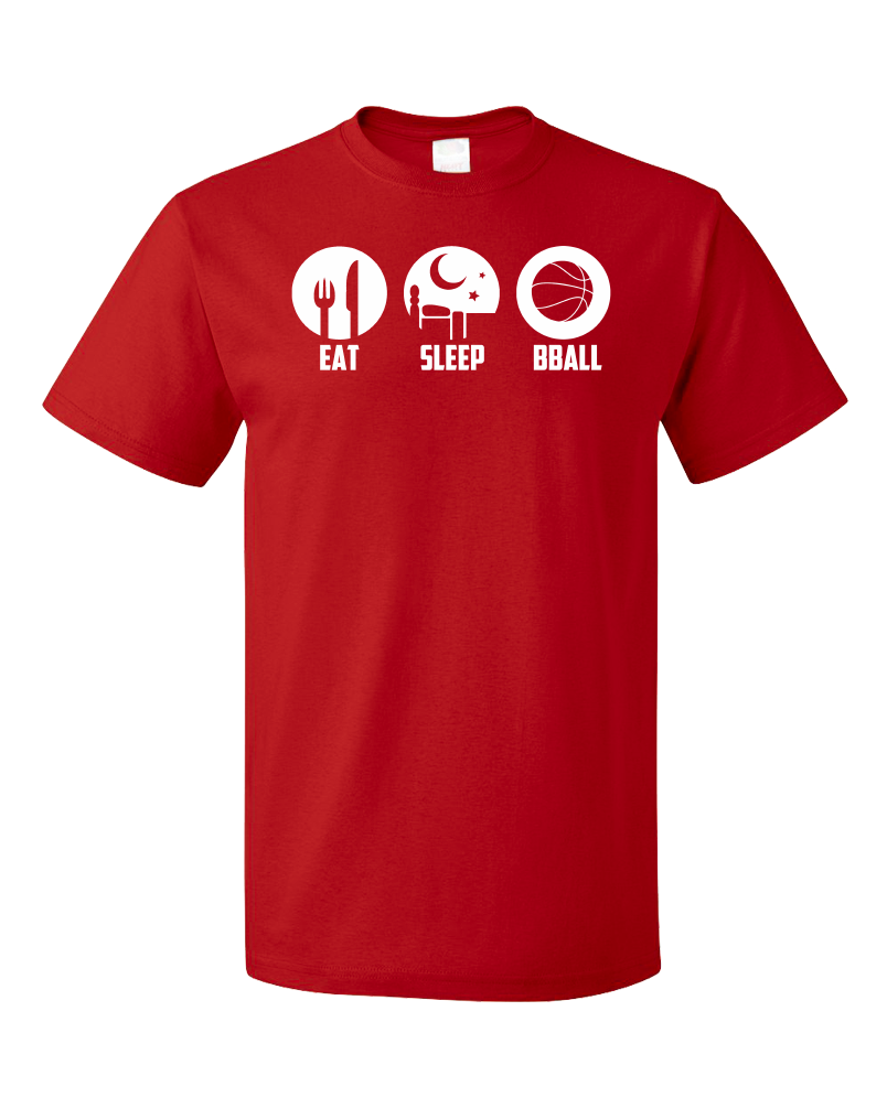 Standard Red Eat, Sleep, Ball - Basketball Player Fan Dunk Love T-shirt