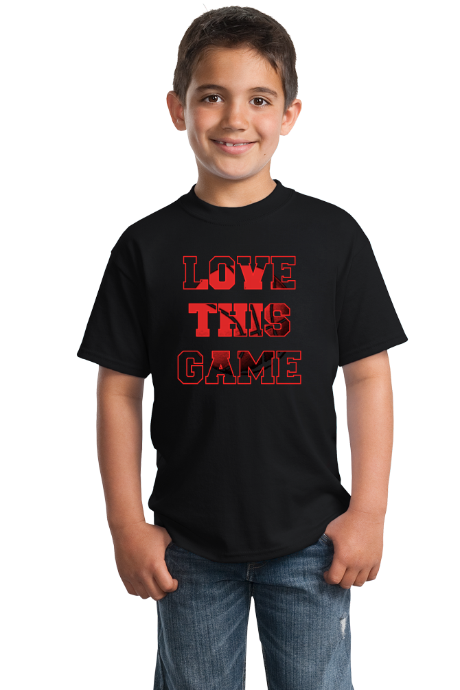 Youth Black Love This Game - Basketball Fan Love Player Pride Gift T-shirt