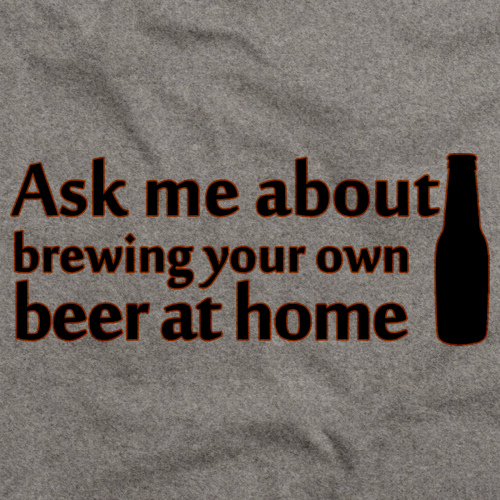Ask Me About Homebrewing Grey Art Preview