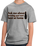 Youth Grey Ask Me About Homebrewing - Homebrewing Craft Beer Gift Fan Funny T-shirt