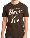 Standard Brown My [Beer] Bucket List - Funny Beer Lover Bucket List Joke Gift T-shirt