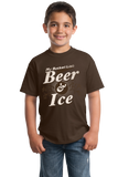 Youth Brown My [Beer] Bucket List - Funny Beer Lover Bucket List Joke Gift T-shirt