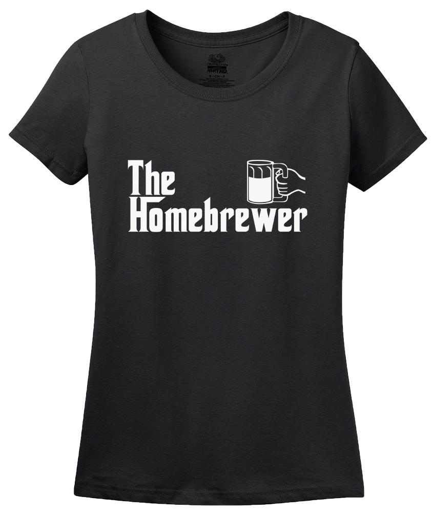 Ladies Black The Homebrewer - Godfather Parody Funny Beer Homebrewing Lover T-shirt