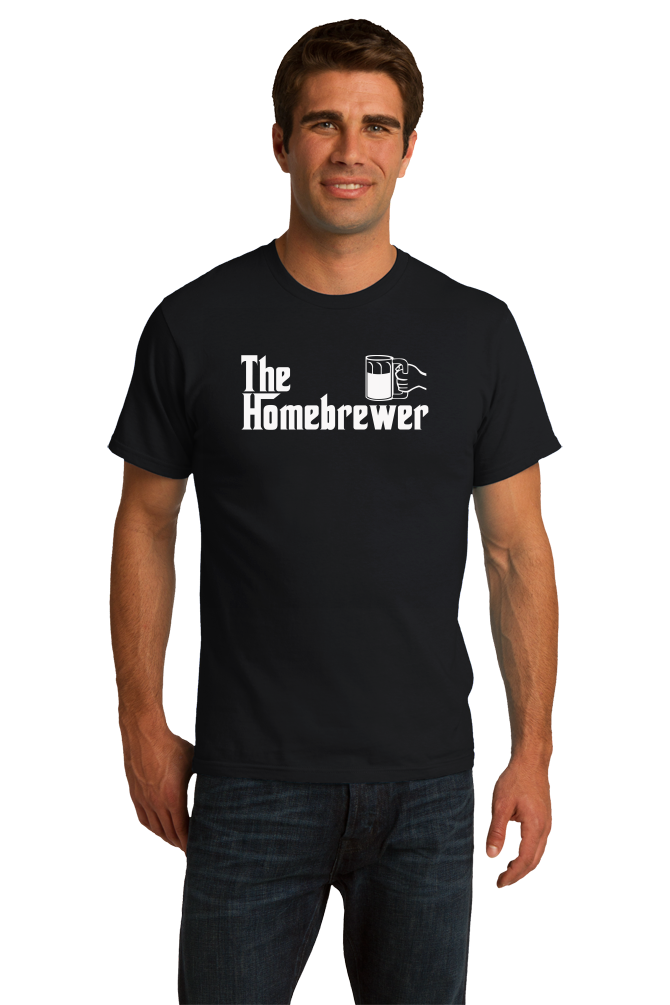 Standard Black The Homebrewer - Godfather Parody Funny Beer Homebrewing Lover T-shirt
