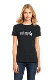 Ladies Black GOT HOPS? T-shirt