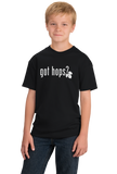 Youth Black GOT HOPS? T-shirt