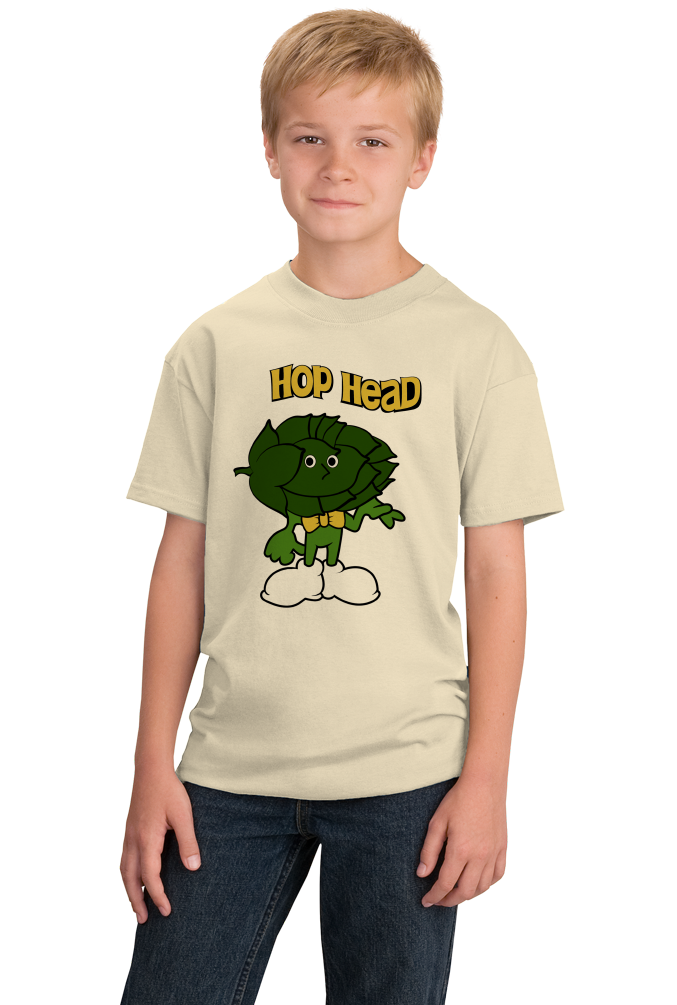 Youth Natural Hop Head - Funny IPA Craft Brewing Beer Lover Homebrew T-shirt