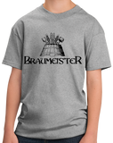 Youth Grey Braumeister - German Beer Master Homebrewer Craft Pride Funny T-shirt