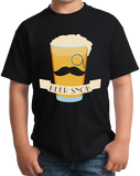 Youth Black Beer Snob - Hipster Beer Lover Irony Funny Snob Craft Brew Booze T-shirt