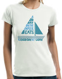 Ladies White A Bad Day On The Boat Beats A Good Day At Work - Boat Lake Sail T-shirt