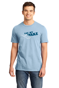 Standard Light Blue Eat My Wake - Boating Humor Funny Lake Ocean Watersports Fun T-shirt
