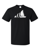Standard Black Sailing Evolution - Funny Sailing Enthusiast Lake Boat T-shirt