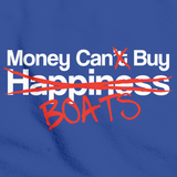 HAPPINESS? MONEY CAN BUY BOATS! Royal Blue art preview