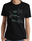 Ladies Black Pessimist, Optimist, Realist Sailing - Sailboat Funny cool T-shirt
