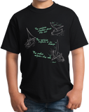 Youth Black Pessimist, Optimist, Realist Sailing - Sailboat Funny cool T-shirt