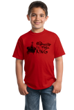 Youth Red Stephen Is The King - Funny Horror Book Reading Fan Humor T-shirt
