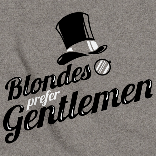 BLONDES PREFER GENTLEMEN Grey art preview
