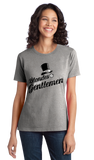 Ladies Grey Blondes Prefer Gentlemen - Ironic PUA Sarcasm Humor Sex T-shirt