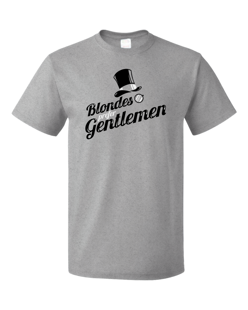 Standard Grey Blondes Prefer Gentlemen - Ironic PUA Sarcasm Humor Sex T-shirt