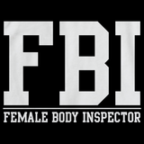FBI: FEMALE BODY INSPECTOR Black art preview