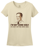 Ladies Natural Not Going Bald, Just Getting More Head - Retro Sex Bald Humor T-shirt