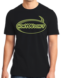 Standard Black How You Doin'? - Comic Book Pickup Line Bar Humor T-shirt