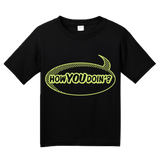 Youth Black How You Doin'? - Comic Book Pickup Line Bar Humor T-shirt