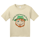 Youth Natural Irish By Insertion - St. Pat's Day Pickup Line Raunchy Sex Joke T-shirt