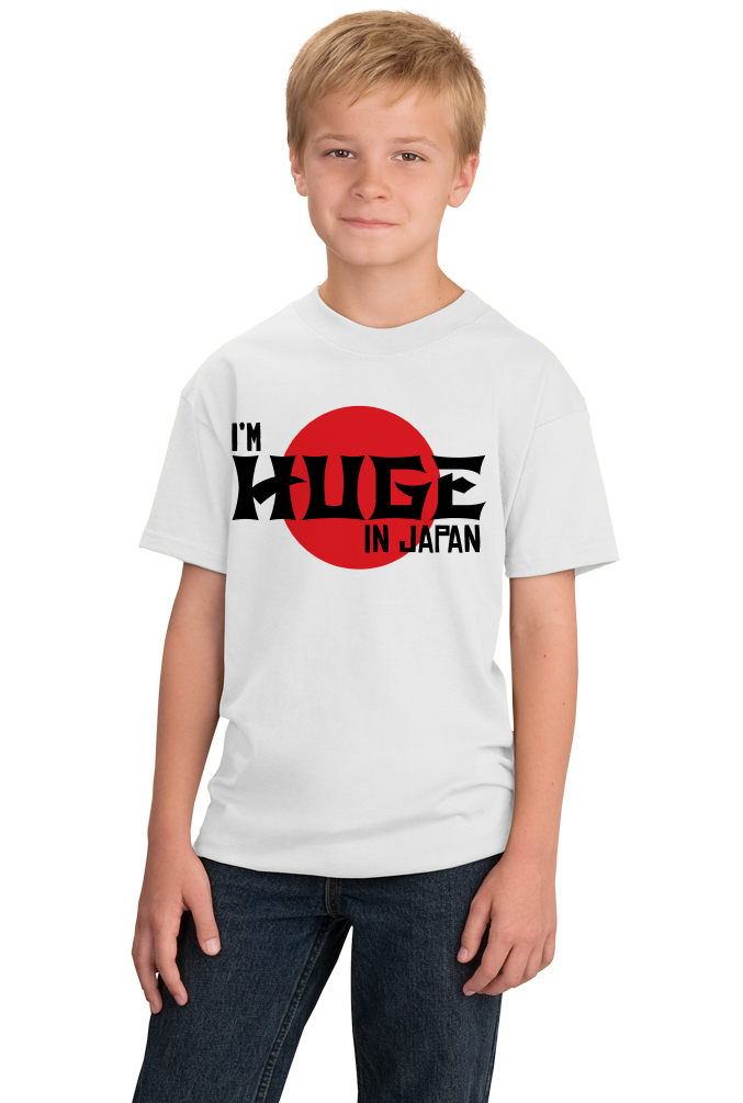 Youth White I'm Huge In Japan - Funny International Travel Star Humor T-shirt