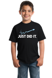 Youth Black Just Did It - Funny Rude Adult Humor Inappropriate T-shirt
