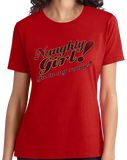 Ladies Red Naughty Girl! Go To My Room! - Funny Dirty Sex Humor Naughty T-shirt