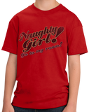 Youth Red Naughty Girl! Go To My Room! - Funny Dirty Sex Humor Naughty T-shirt