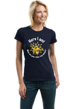 Ladies Navy Here I Am! What Are Your Other Two Wishes? - Cocky T-shirt