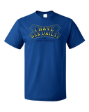 Standard Royal I Have Sex Daily! (I Mean Dyslexia) - Dyslexic Sex Humor Adult T-shirt