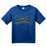 Youth Royal I Have Sex Daily! (I Mean Dyslexia) - Dyslexic Sex Humor Adult T-shirt