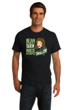 Standard Black Mean People Suck (Nice People Swallow) - Blowjob Humor Adult T-shirt