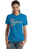 Ladies Aqua Blue Vagitarian - Gross, Lewd Adult Humor Sex Joke Pickup Line Skeezy T-shirt