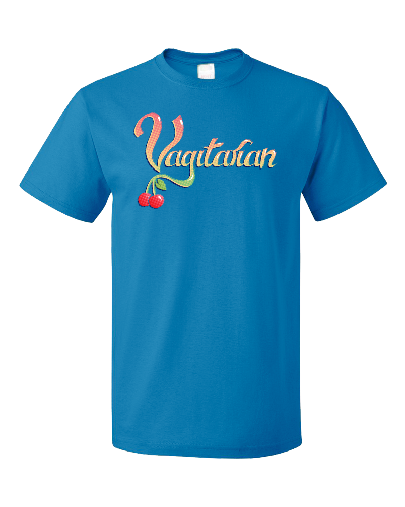 Standard Aqua Blue Vagitarian - Gross, Lewd Adult Humor Sex Joke Pickup Line Skeezy T-shirt