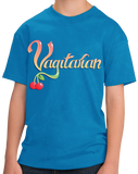 Youth Aqua Blue Vagitarian - Gross, Lewd Adult Humor Sex Joke Pickup Line Skeezy T-shirt