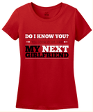 Ladies Red You Look Like My New Girlfriend - Funny Drinking Pickup Line Bar T-shirt