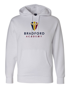 Pullover Hoodie White Bradford Academy Logo Light pullover-hoodie