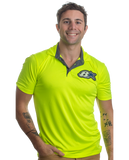 Ultimate Soft Lock Polo Safety Yellow/Graphite B Star - Logo Polo