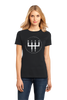 Ladies Black 5 Speed Transition - Gearhead Manual Transmission Stick Shift T-shirt